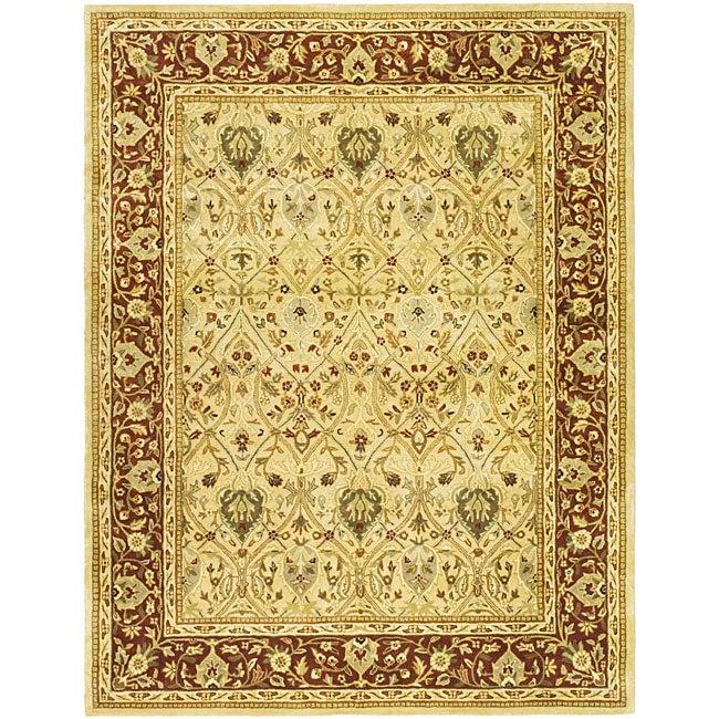 Safavieh Handmade Mahal Ivory/ Rust New Zealand Wool Rug (7'6 x 9'6)