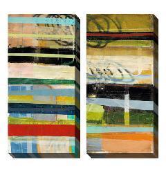 Benjamin Deal 'Popular Thesis' Oversized Canvas Art Set