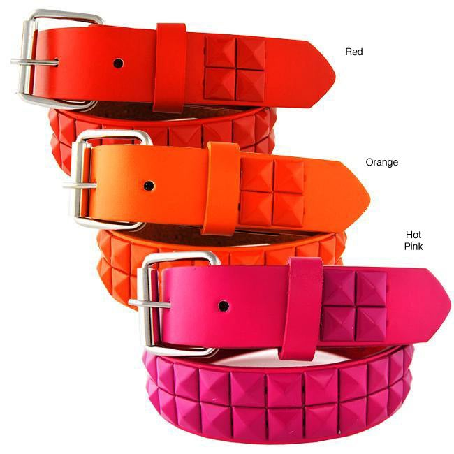 Kid's Studded Faux Leather Belt