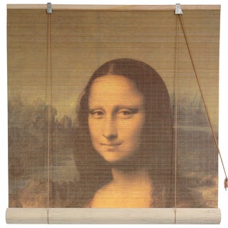 Da Vinci's 'Mona Lisa' 36-inch Bamboo Blind (China)