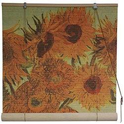 Van Gogh's 'Sunflowers' 36-inch Bamboo Blind (China)