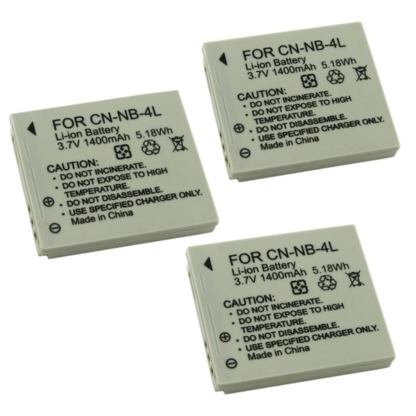 INSTEN NB-4L Lithium-ion Battery for Canon Camera (3 Pack)