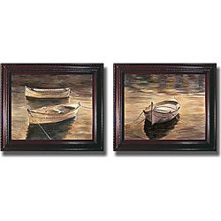 Cheryl Kessler-Romano 'Sienna Boats' 2-piece Canvas Art Set