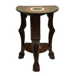 Handmade 'Adepa' Semi-circle Accent Table (Ghana)