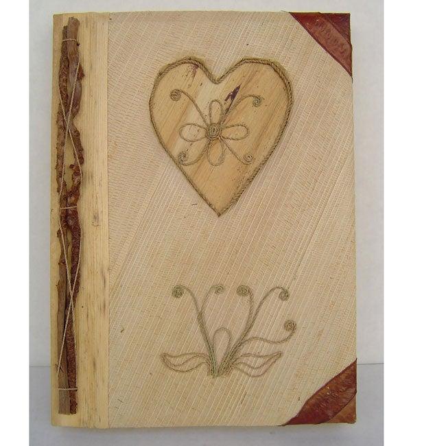 Bamboo Paper Natural Heart Photo Album (Indonesia)