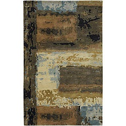 Hand-tufted New Zealand Wool Mandara Area Rug (9' x 13')
