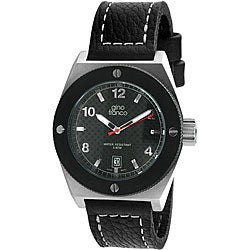 Gino Franco Men's Black PVD Plated Stainless Steel Watch