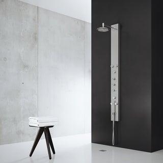 VIGO Shower Panel System with Round Rain Shower Head