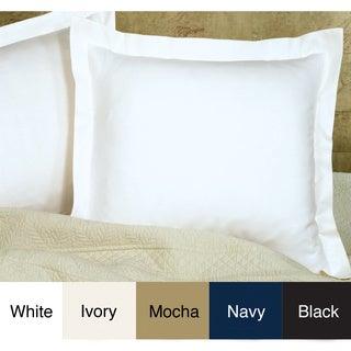 Poplin Tailored Cotton Blend Euro Sham