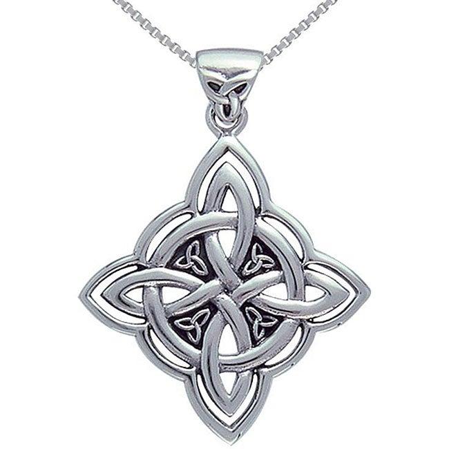 CGC Sterling Silver Celtic Spiritual Trinity Symbol Necklace