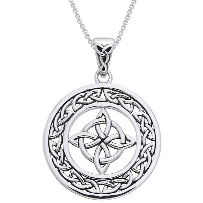 CGC Sterling Silver Celtic Good Luck Knot Necklace