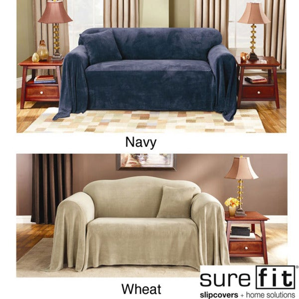 Sure Fit Plush Sofa Throw Cover