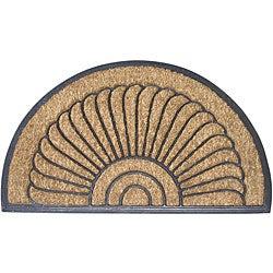 Shell Half-round Door Mat (18 in. x 30 in.)