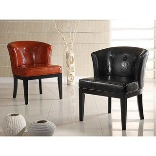 Bi-cast Leather Club Chair