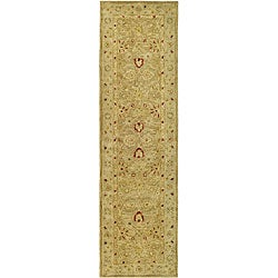 Safavieh Handmade Majesty Light Brown/ Beige Wool Runner (2'3 x 8')
