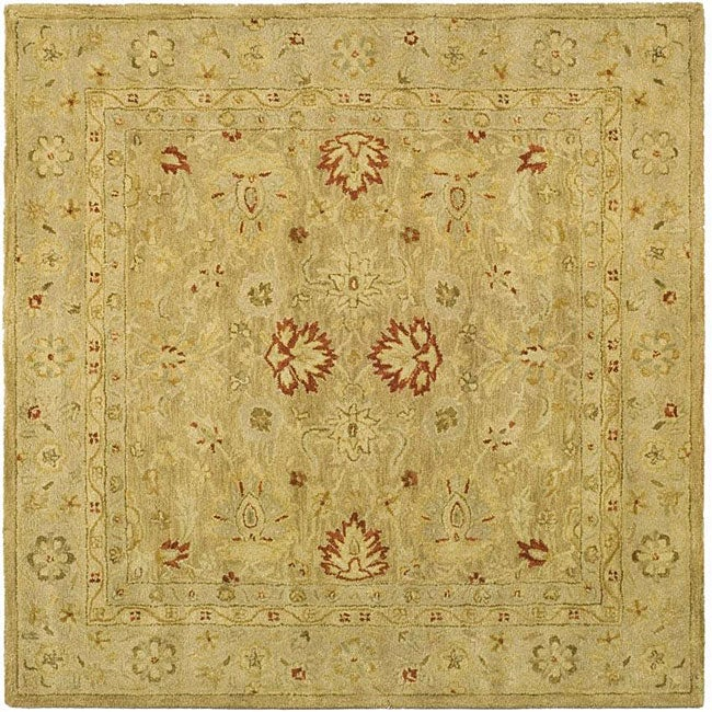 Safavieh Handmade Majesty Light Brown/ Beige Wool Rug (8' Square)