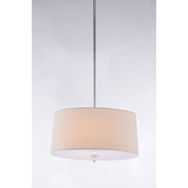 Crystal Finial 3-light Parchment Ceiling Chandelier
