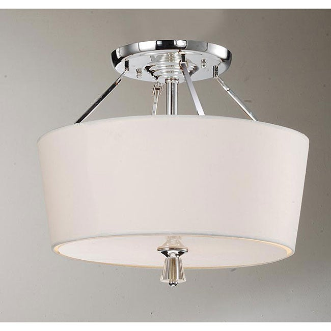 Crystal Finial Chrome Ceiling Lamp