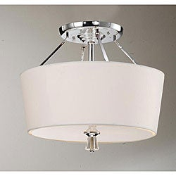 Crystal Finial Chrome Ceiling Lamp