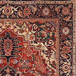 Heirloom Treasures Hand-knotted Red Wool Rug (9' x 12')