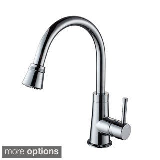 Kraus Solid Brass Single-lever Pull-out Sprayer Kitchen Faucet