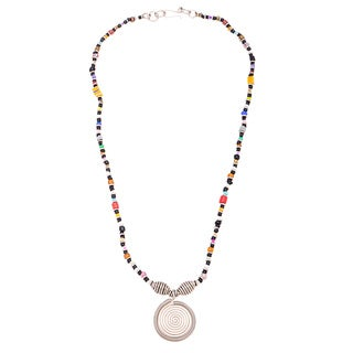 Silverplated Copper Multicolor Beaded Elegance Necklace (Kenya)