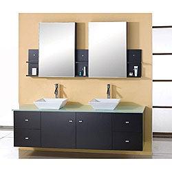 Virtu USA Clarissa 72-inch Double Sink Bathroom Vanity Set