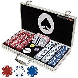 Set of 300 Professional Maverick Poker Chips with Case