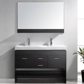 Virtu USA Gloria 48-inch Double Sink Bathroom Vanity Set