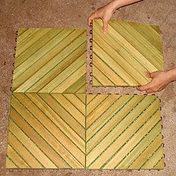 Premium Plantation Teak Tiles (Box of 10)