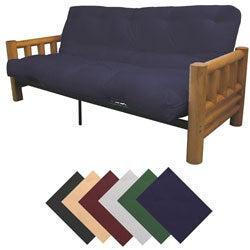 Yosemite Queen-size Rustic Lodge Frame with Cotton/Foam Mattress Futon Set
