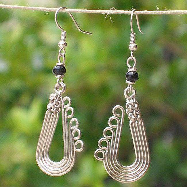 Electroplated Copper 'In Harmony' Earrings (Kenya)