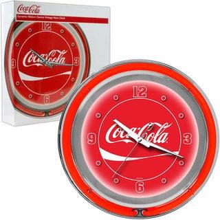 Red Coca Cola Double Ring Neon Clock