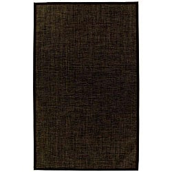 PVC Outdoor Black/ Brown Rug (6' x 9')