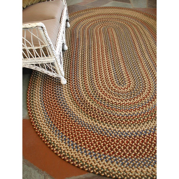 Monticello Indoor / Outdoor Braided Area Rug (5'6 x 8'6)