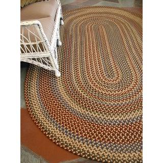 Monticello Indoor / Outdoor Multi-Colored Braided Rug (7'4 x 9'4)