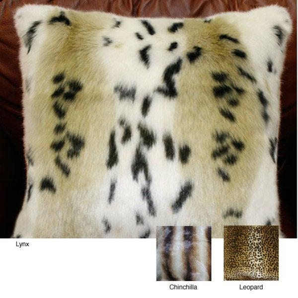 Safari Faux Fur Pillow Collection (Set of 2)