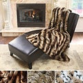 Oversize Safari Faux Fur Patterned Soft Throw Collection