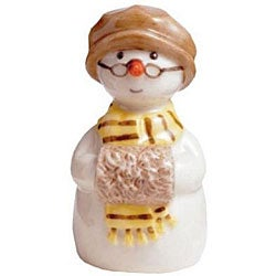 Royal Copenhagen Grandmother with Muff Snowman Figurine