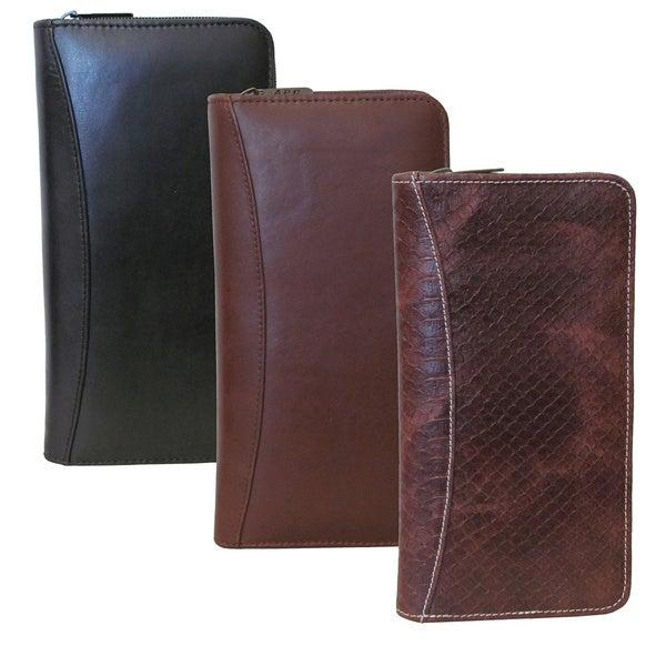 Amerileather Leather Deluxe Zipper Document Case