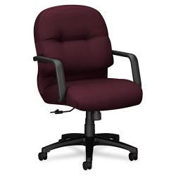 HON 2090 Pillow Soft Series Maroon Mid Back Fabric Chair