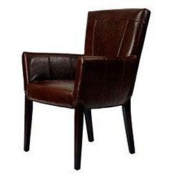 Safavieh Ken Bicast Leather Arm Chair Brown