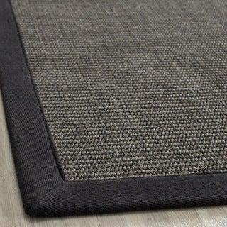 Safavieh Hand-woven Natural Fiber Serenity Charcoal Grey Sisal Rug (3' x 5')