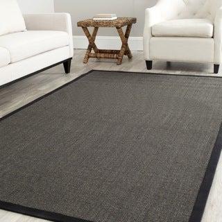 Safavieh Hand-woven Natural Fiber Serenity Charcoal Grey Sisal Rug (9' x 12')