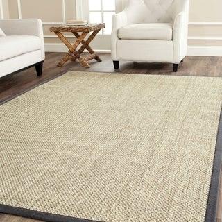 Safavieh Hand-woven Resorts Natural/ Grey Fine Sisal Rug (9' x 12')