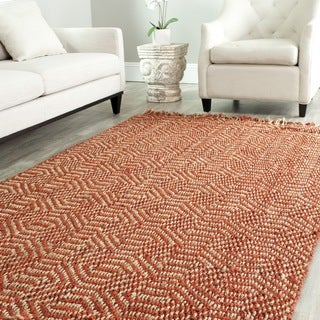 Safavieh Hand-woven Arts Natural/ Rust Fine Sisal Rug (4' x 6')