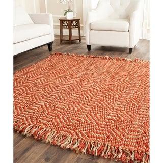 Safavieh Hand-woven Arts Natural/ Rust Fine Sisal Rug (9' x 12')