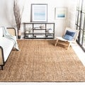 Hand-woven Weaves Natural-colored Fine Sisal Rug (6&#39; x 9&#39;)