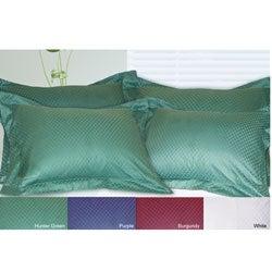 Cotton Damask Check Standard-size Shams (Set of 4)