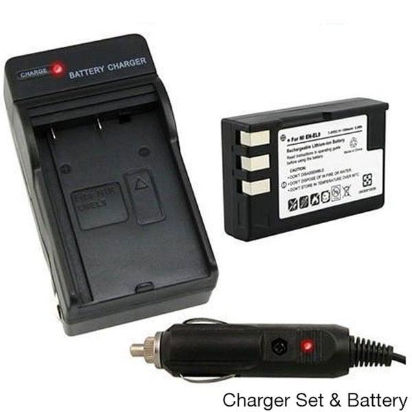 INSTEN Camera Battery and Charger for Nikon EN-EL9 SLR D60/ D40/ D40x